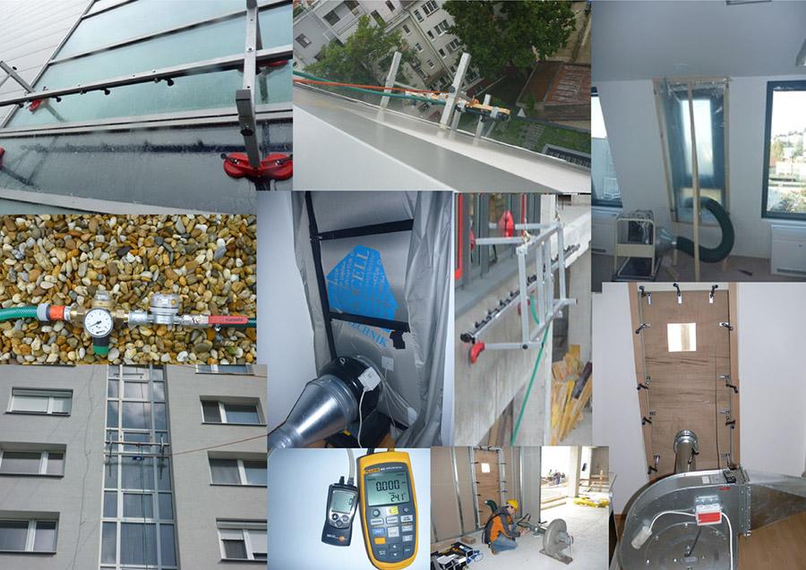 Vodotesnosť závesných stien vrátane okien in situ