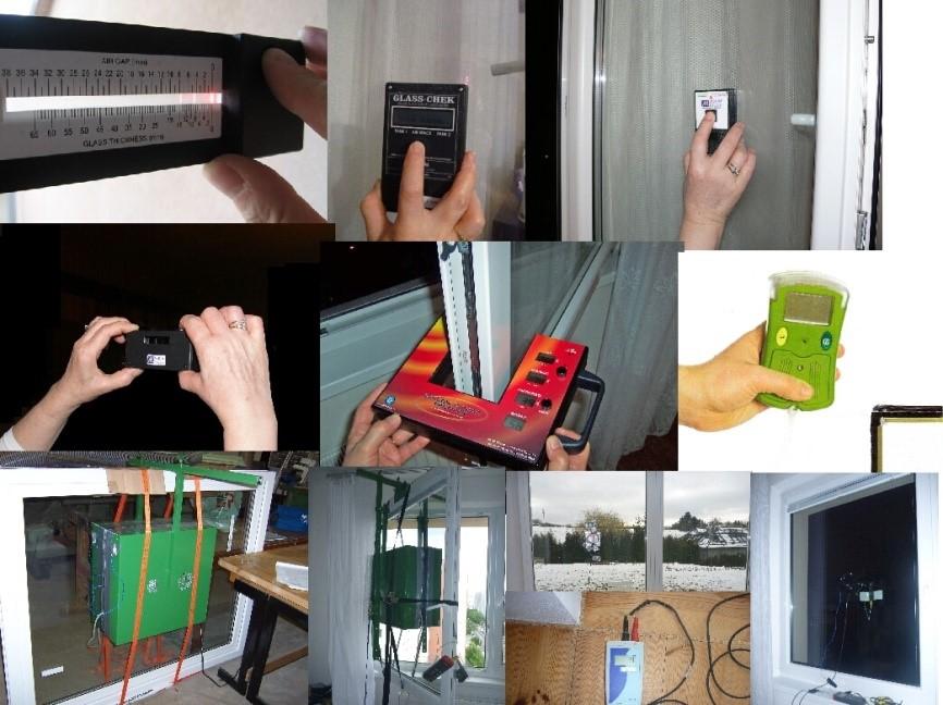 Skladba izolačného skla vrátane zistenia jeho tepelnoizolačných vlastností